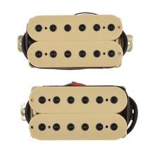 Przewodowa gitara elektryczna Humbucker podwójna cewka zestaw wzmacniaczy szyi + most, beżowy