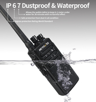 מכשיר הקשר 2pcs 10W דיגיטלי מכשיר הקשר IP67 Waterproof DMR Retevis RT81 32CH 2Zone UHF 400-470MHz Encryted מקצועי שני הדרך רדיו RU (3)