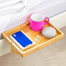Móveis do quarto mesa de cabeceira criativa bandeja de madeira mesa de cabeceira móvel rack criativo dormitório mesa de cabeceira
