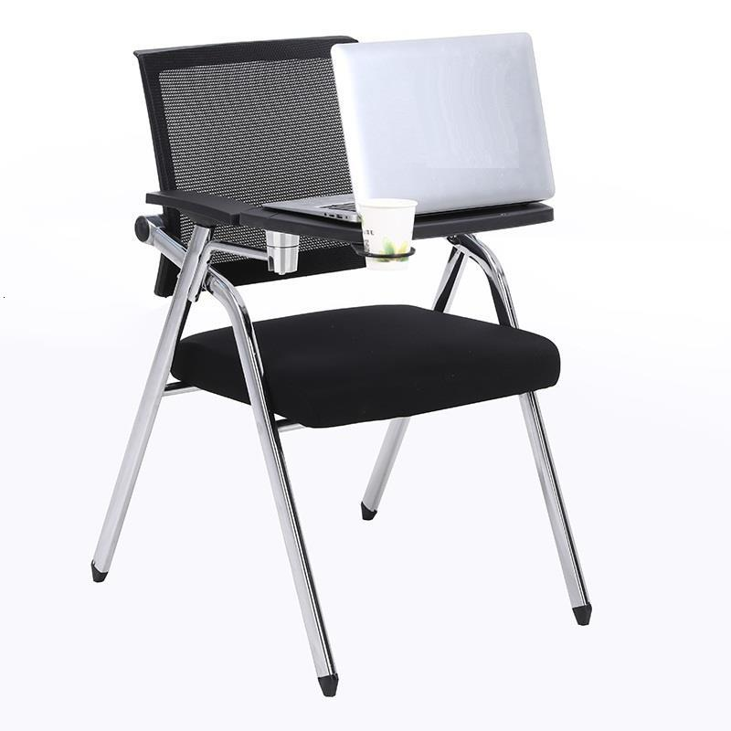 Foldable Conferencia Pegable Metal Bureau Meuble Etudiante Para Kursi Staf De Office Silla Oficina Folding Chair With Board