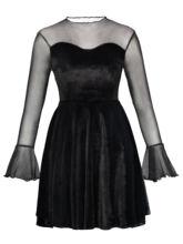 Rpsetic женское платье черное Сетчатое прозрачное А силуэта