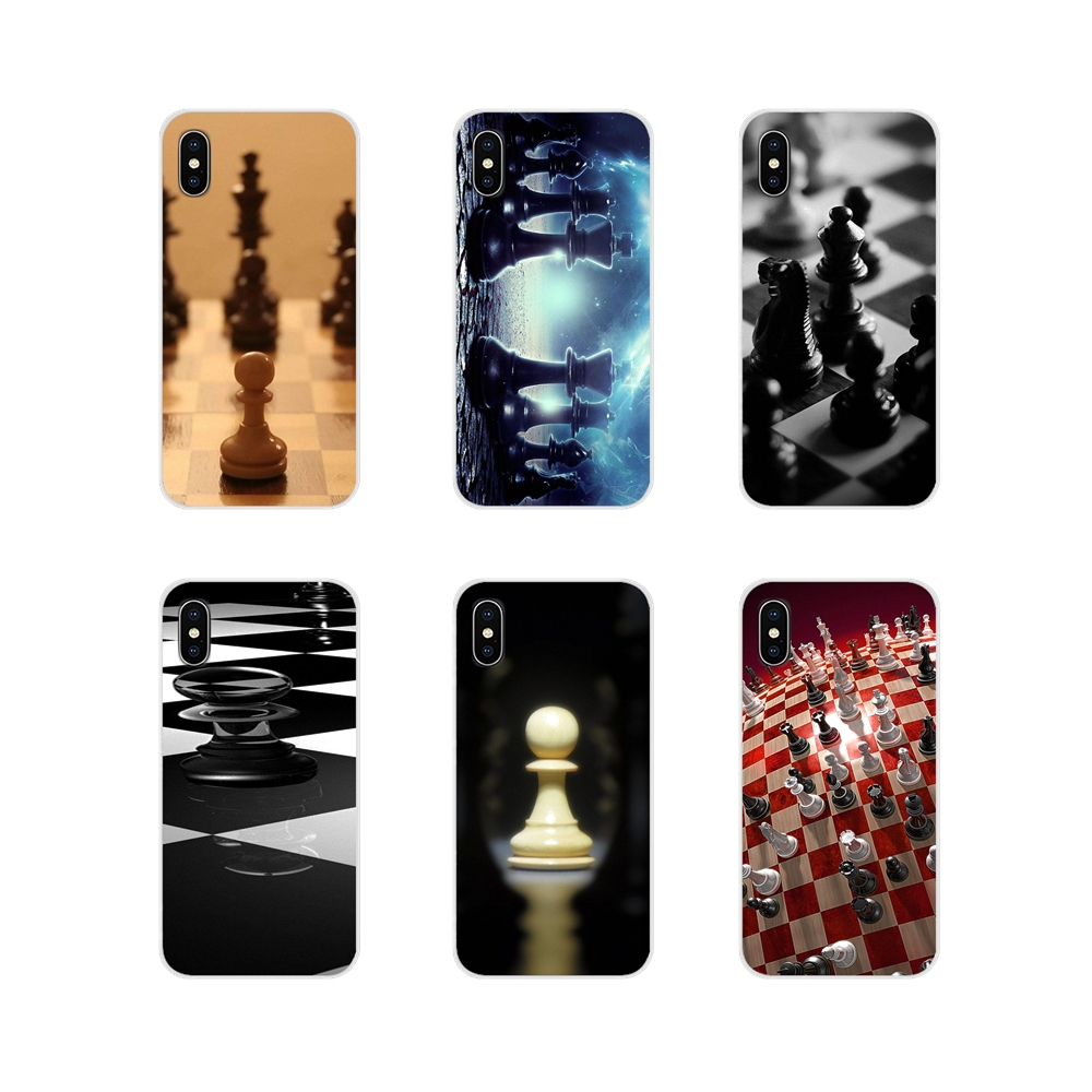 TPU Transparent Cases Covers For Samsung Galaxy S3 S4 S5 Mini S6 S7 Edge S8 S9 S10 Lite Plus <font><b>Note</b></font> 4 5 <font><b>8</b></font> 9 Chess <font><b>Board</b></font> Pieces New image