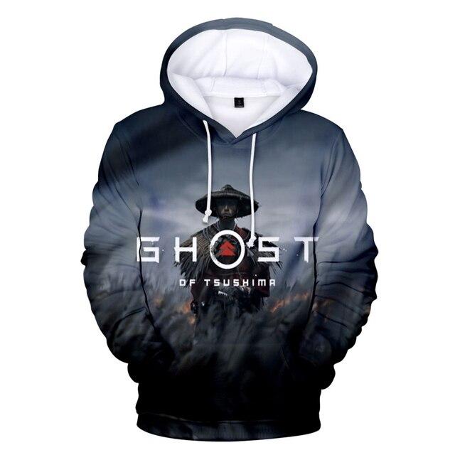 2020 Ghost of Tsushima Hoodie 3D Unisex Long Sleeve Sweatshirts Women Men's Hoodies Cosplay Game Harajuku Clothes Oversized 2