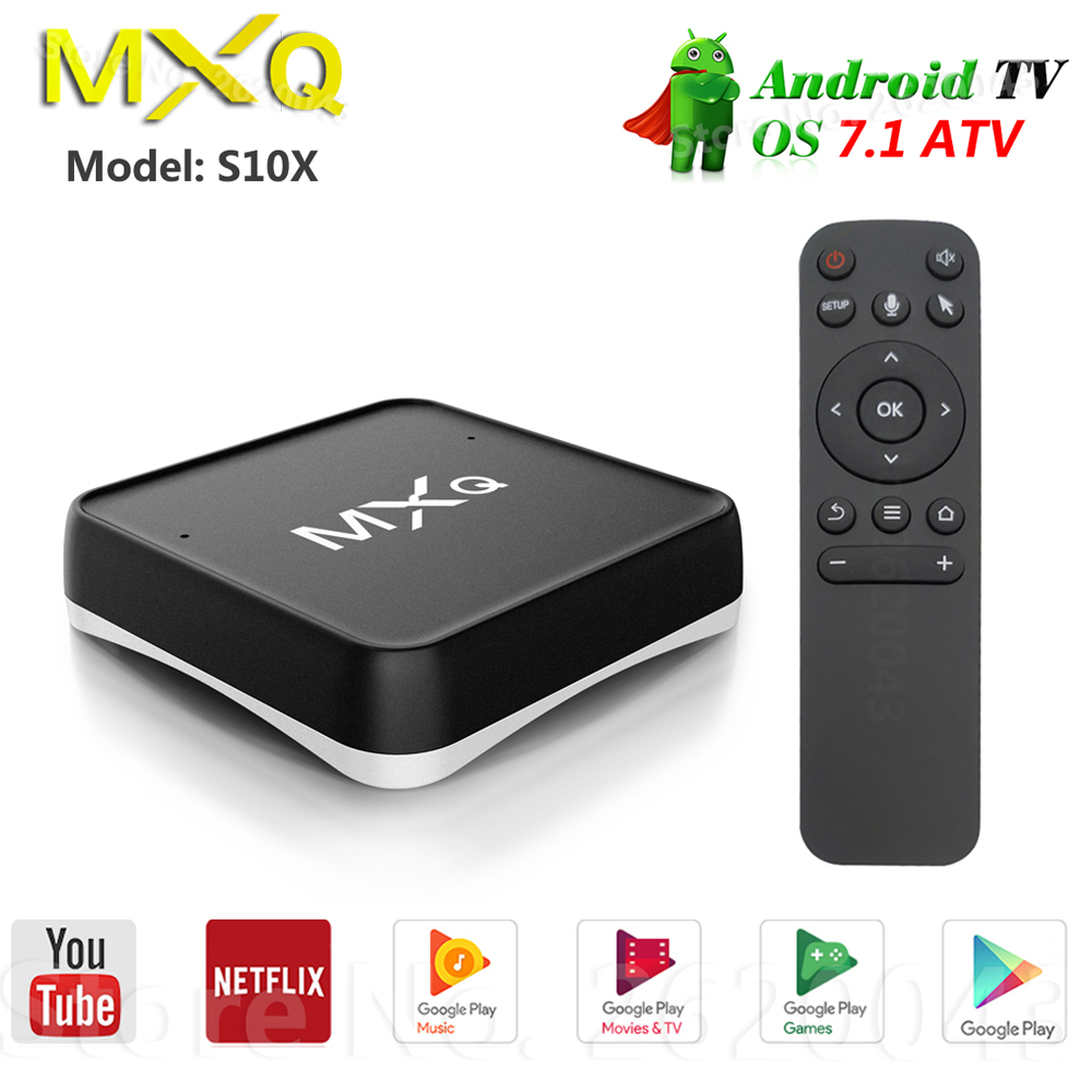 MXQ CUBE S10X Android Tv Box S905X 64 bits 2GB DDR3 16GB 2.4G/5G WIFI LAN 10/100M Bluetooth Android 7.1 ATV commande vocale Tv Box