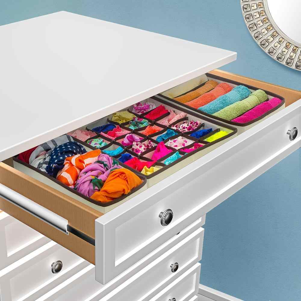 Bras Baby Clothes Wardrobe Draw Dividers Collapsible Baskets to Tidy Underwear Neatzee 8pcs Adjustable Dresser Drawer Organisers Fabric Foldable Storage Boxes for Bedroom Clothing Cupboard Socks