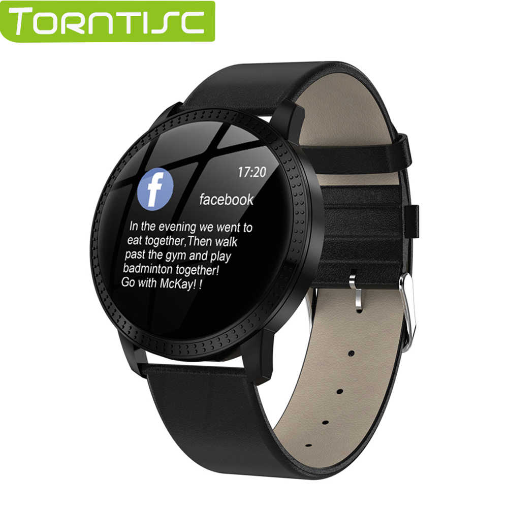 Torntisc CF18 1.22 Inch Smart Watch Waterproof IP67 Blood Pressure Monitoring Metal Starp Multi Sport Modes for Men Women