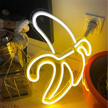 Neon Light Sign Banana Neon Signs  Neon Pub LED Neon Lights Art Wall Decorative for Room Wall Kids Bedroom Gift Party Bar Decor