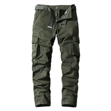 Khaki Casual Pants Men Military Tactical Joggers Cotton Cargo Pants Men Multi-Pockets Black Army Long Trousers Male Clothing(China)