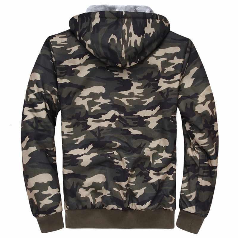 Camouflage Herren Hoodies Sweatshirts Jacken Verdicken Pelz Futter Winter Warme Strickjacke Military Komfort Weiche Mäntel Freies Verschiffen