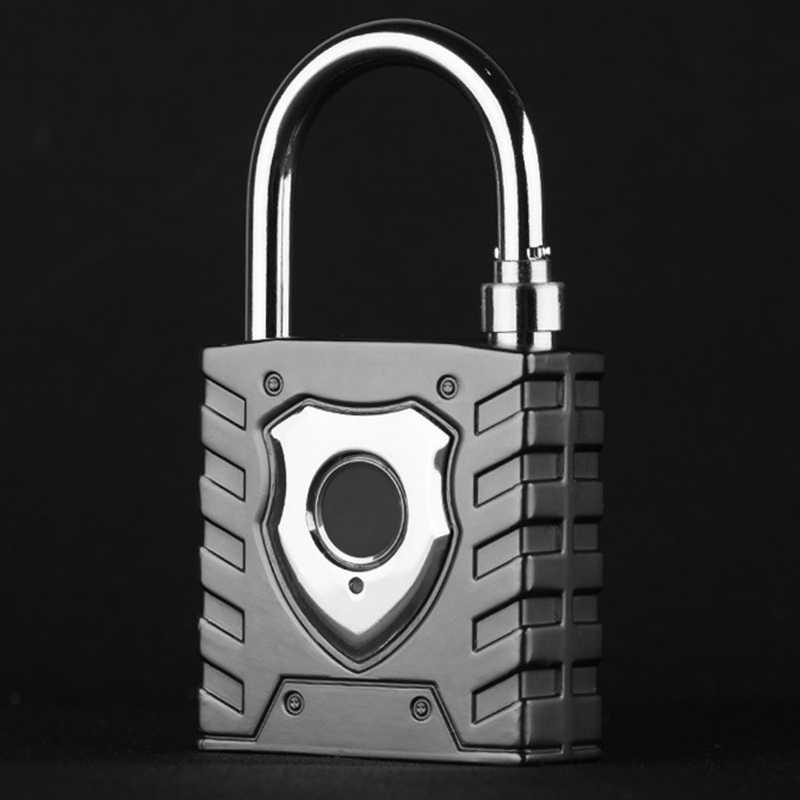 Cadenas intelligent d'empreinte digitale grande serrure étanche extérieure porte d'entrepôt serrure de mot de passe de sécurité à la maison