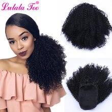 Женский парик для конского хвоста кудрявый из синтетических