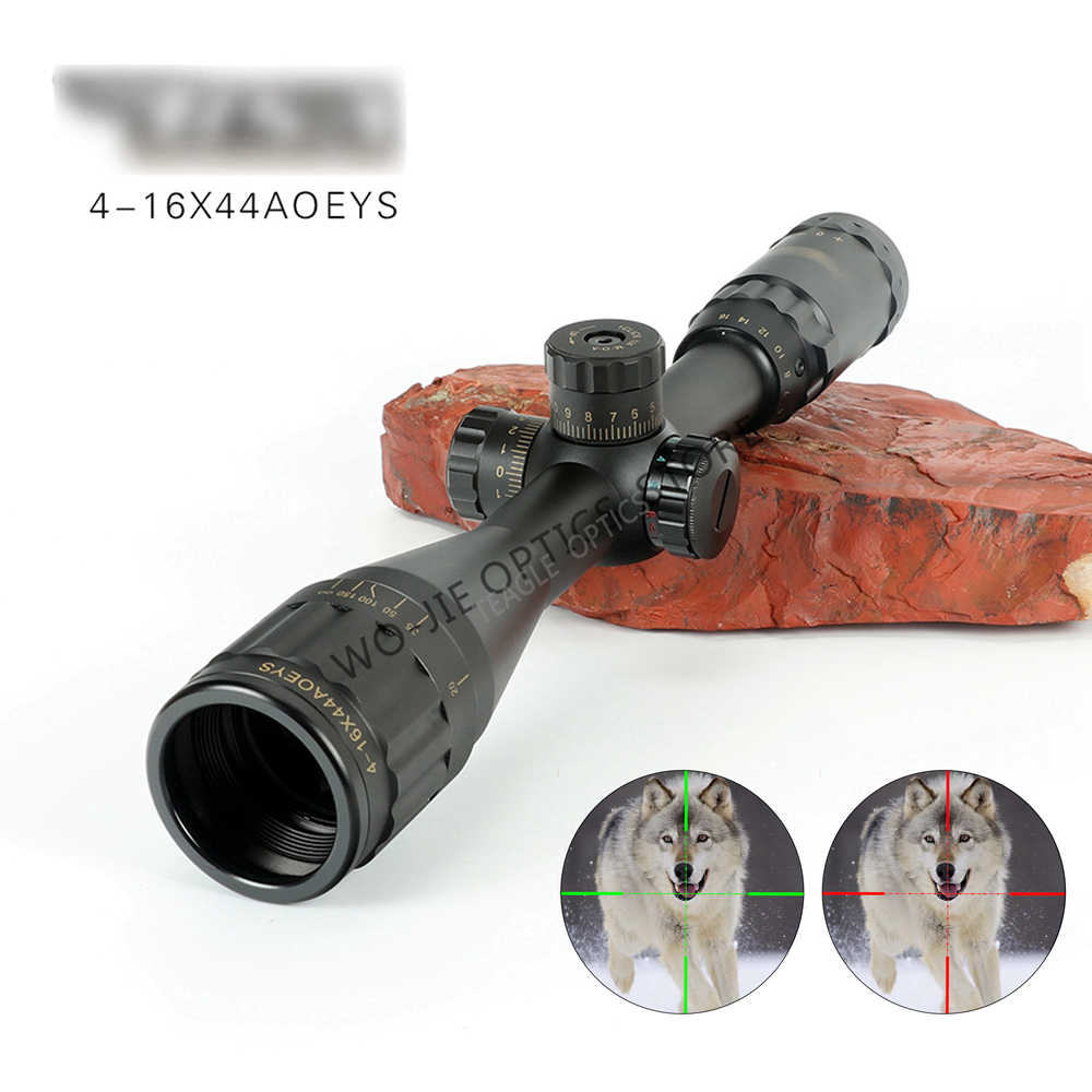 אופטיקה 4-16x44 ST טקטי אופטי Sight ירוק אדום מואר Riflescope ציד היקף רובה צלף Airsoft רובי אוויר