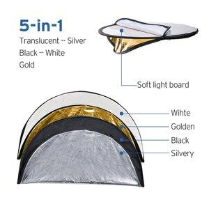Image 5 - 5 en 1 photographie réflecteur réflecteurs de lumière pour photographie Photo réflecteur pliable translucide, argent, or, blanc, noir