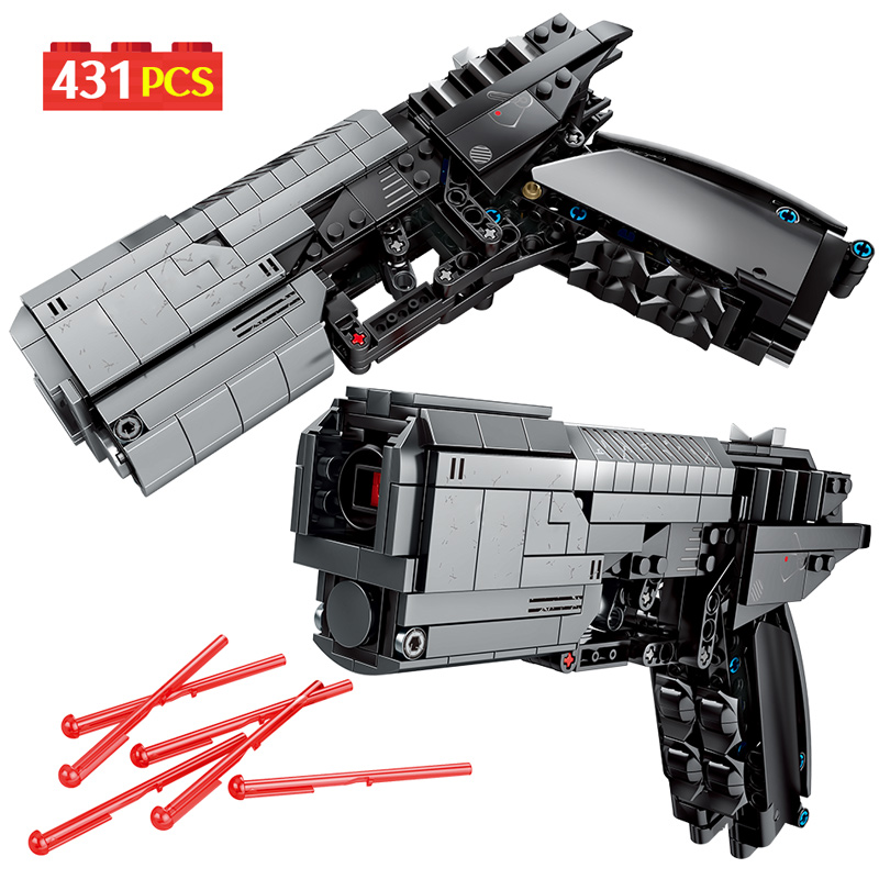 SEMBO 431pcs City Police Military Pistol Gun Building Blocks Technic Signal Gun Bullet Assembly Bricks Sets Toys For Boys