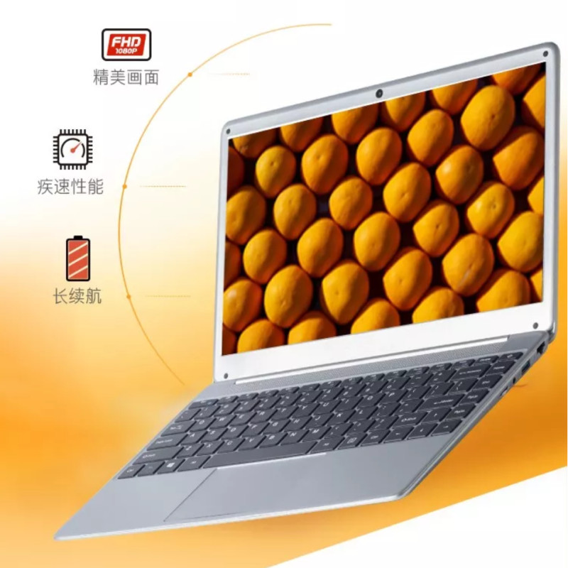 14.1inch 1366X768P LED 8GB RAM DDR3+1000GB HDD Windows7/10 Ultrathin Intel N3520 Quad Core Fast Running Laptops Netbook Computer image