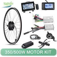 Kit de conversión de bicicleta eléctrica, juego de motor para bici, para rueda delantera y trasera de 20/26 pulgadas, 36V/48V, 350W/500W