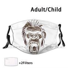 Macaco irritado-máscara diy lavável filtro pm2.5 boca trending macaco natureza animais selvagens apartamento animais abelha zoológico animal gorila