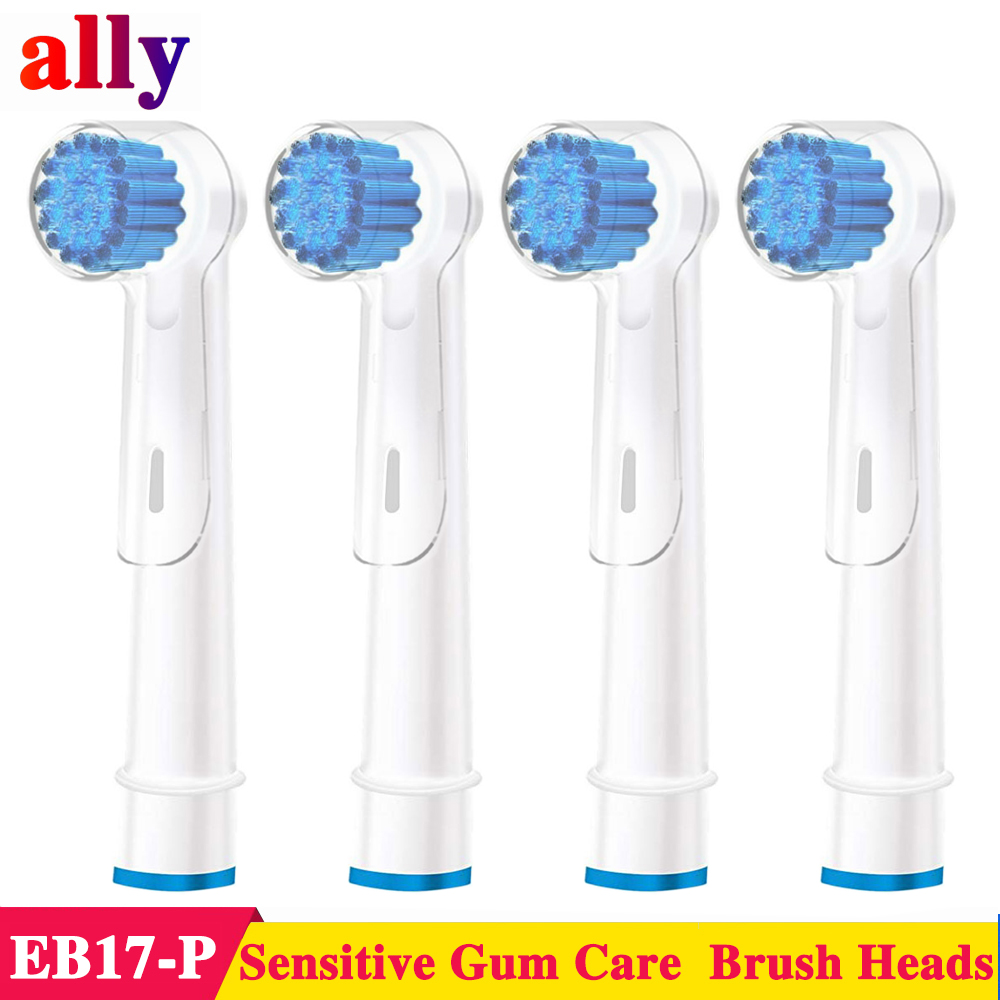 4X EB17 Electric toothbrush heads For Braun Oral B Vitality Triumph Sensitive Gum Care Replacement Brush Heads image