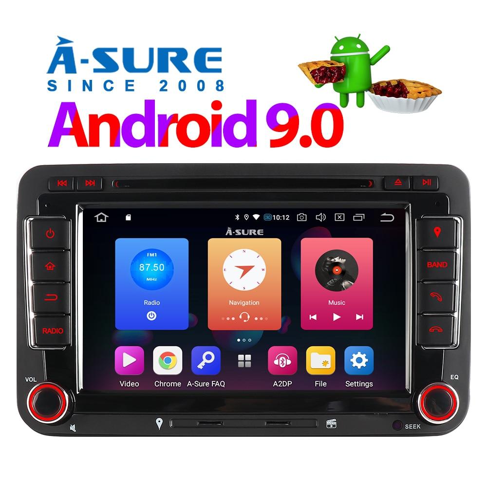 Android 9.0 VW PASSAT TIGUAN Golf 7 2 Din GPS DVD DAB + 57