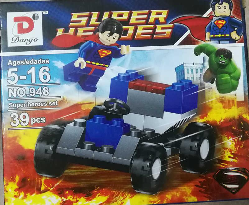 Siêu Nhân Batman Avengers Marvel Hulk Captain America Người Đàn Ông Người Sắt Block Mini Hình Hành Động Đồ Chơi Cho Bé Trai Tặng