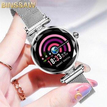 BINSSAW 2020 New Luxury Smart Watch Women Sport IP67 Waterproof Bluetooth For Android IOS Iphone Smartwatch Gift For Girlfriend