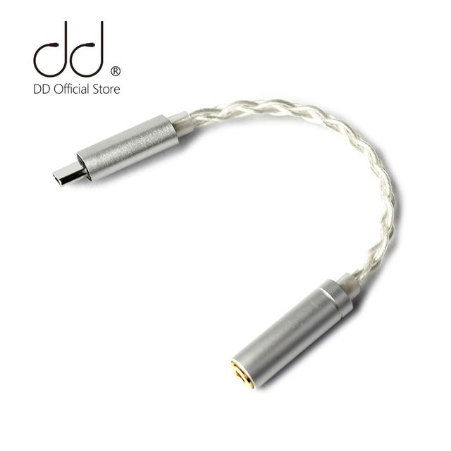 DD ddHiFi TC35 USB type c à Jack 3.5 câble adaptateur pour téléphone portable Android Huawei Xiaomi oppo vivo SAMSUNG etc, 192kHz/32bit