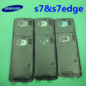 Image 2 - Samsung Galaxy S7 edge Original Back Battery Cover G930 G930F Case G935 G935F Rear Door Housing Glass Panel Replacement Part
