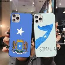 Somali somália bandeira nacional brasão de armas caso telefone para iphone 12 pro max 11 pro xs max 8 7 6s plus x 5S se 2020 xr