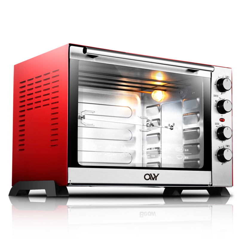 60L Electric Oven Up Down Temperature Control Bread Toaster Stainless Steel Mechanical Baking Oven Cake Toasting Machine