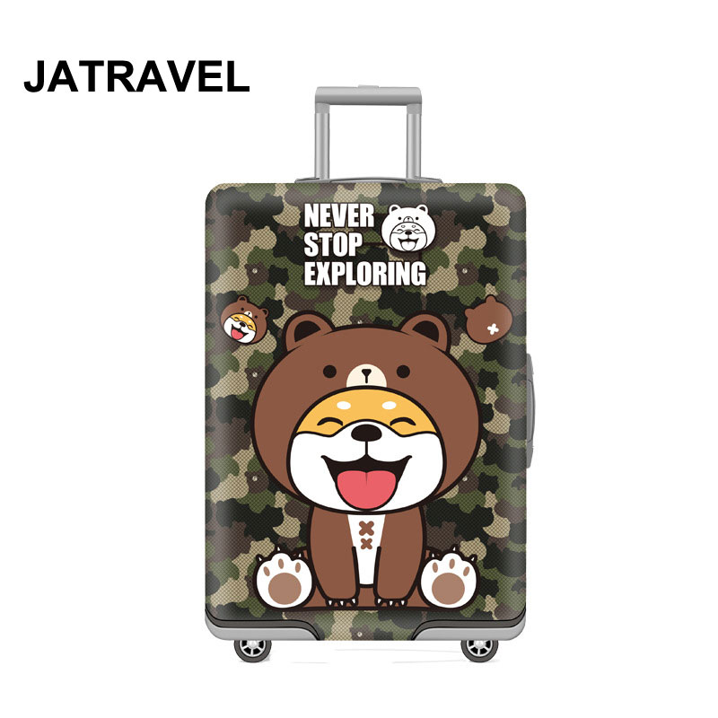 JATRRAVEL Camouflage Dog Luggage Protctive Covers Travel Suitcase Case Elastic Suitcase Protective Covers For 18-32 Inch Luggage