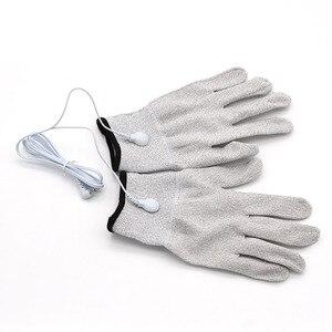 Image 3 - Guantes de electroterapia para adultos, masajeador de electrodos de fibra transpirable, conductor de choque eléctrico, guantes de terapia de fibra de plata, Juguetes sexuales para adultos