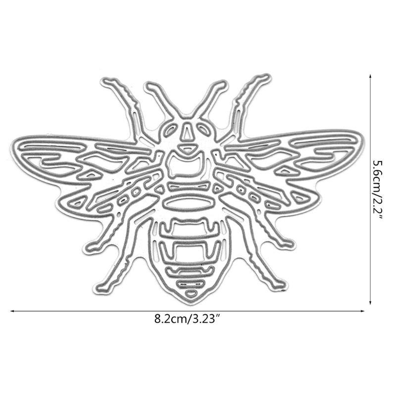 Bee Metal Cutting Dies Stencil DIY Scrapbooking Album Stamp Paper Card Embossing