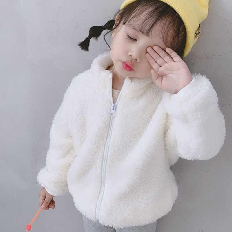 Infant Baby Boy Girl Coat 2019 New Winter Warm Plush Zipper Baby Coat O-Neck Cute Jacket Toddler Outerwear Kids Clothes 0-4Y