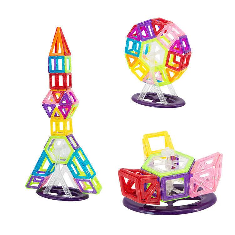 Мини 24 шт.-98 шт. Магнитная дизайнерская игрушка-конструктор для мальчиков и девочек магнитные Строительные блоки DIY колесо обозрения модель автомобиля животное