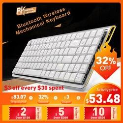Проводная клавиатура Kailh с bluetooth и USB, 96 клавиш, двойной режим, низкопрофильная Механическая игровая клавиатура с шоколадным переключателем ...