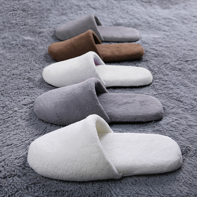 Candy Color Winter Warm Home Slippers Women Bedroom Autumn Thick Slippers Indoor Fleeces Solid Color Slippers Cotton Floor Hot