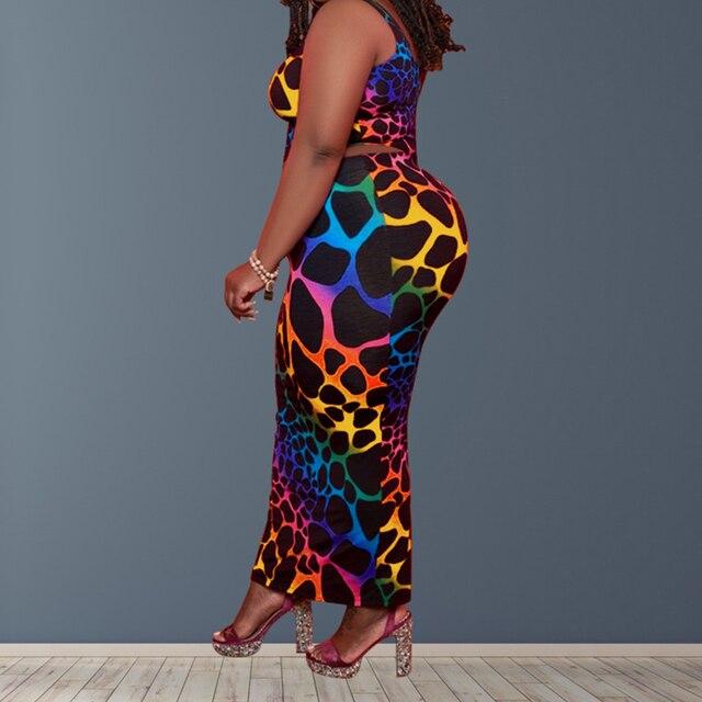 Plus Size Women Clothing Two Piece Set  2