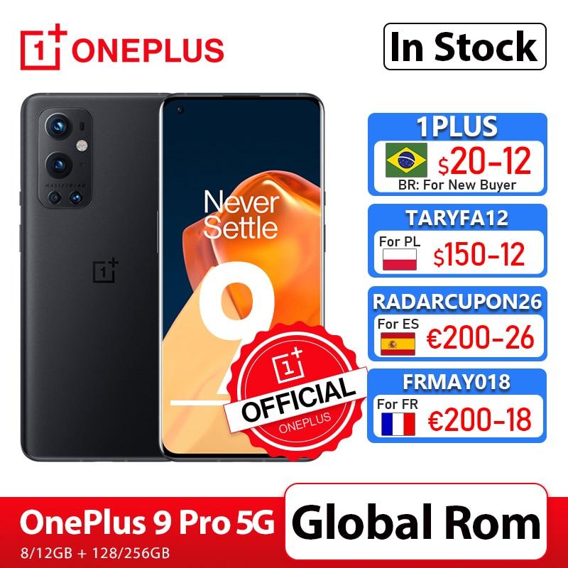 OnePlus 9 Pro 5G teléfono inteligente 8GB 128GB Snapdragon 888 de 120Hz líquido pantalla 2,0 Hasselblad 50MP Ultra-OnePlus tienda oficial; código: RADARCUPON26 (200€-26€)05ESOW20(€150-20)