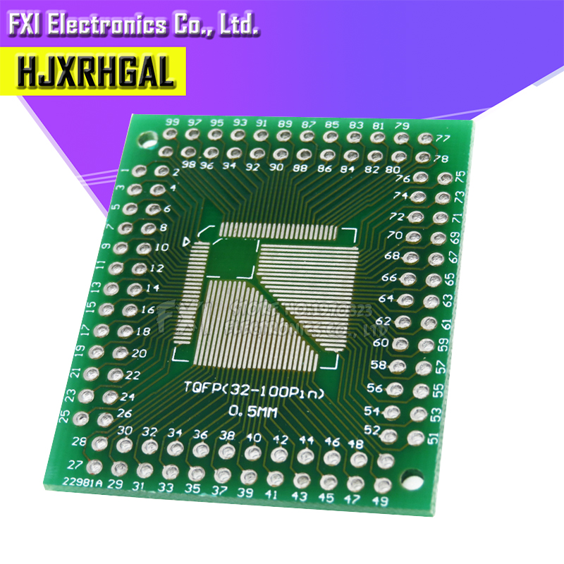 QFP32//44//64 0.8mm to QFP16-64 0.5mm Double-sided Adapter Board New 5pcs