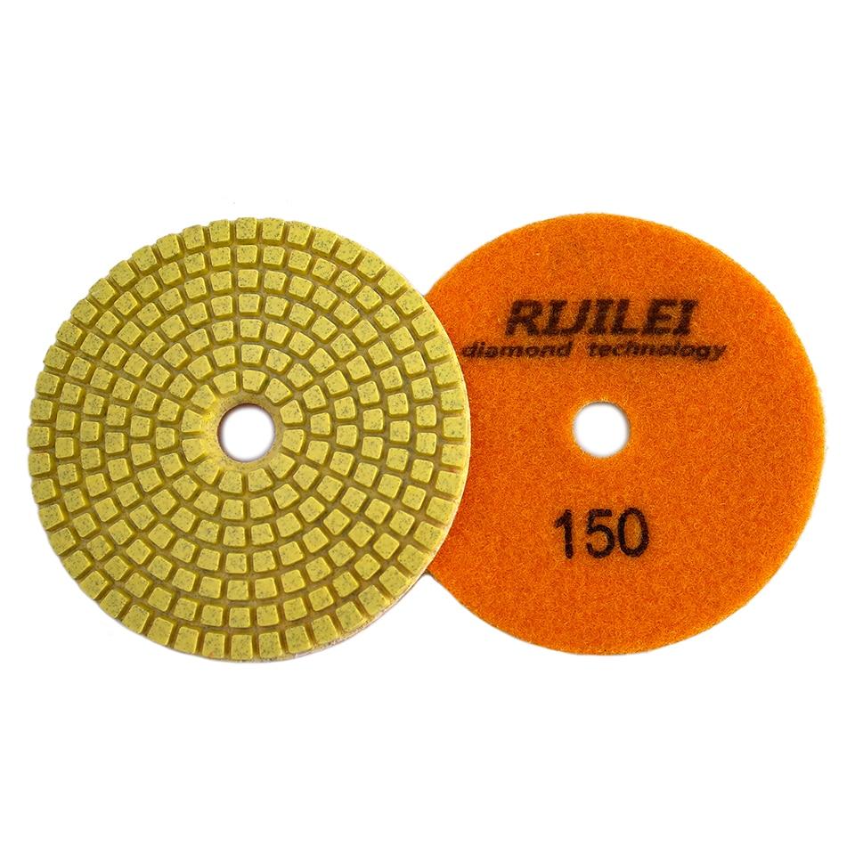 RIJILEI Polishing-Pad-Kit Grinding-Discs Marble Granite Concrete Diamond Floor 4inch