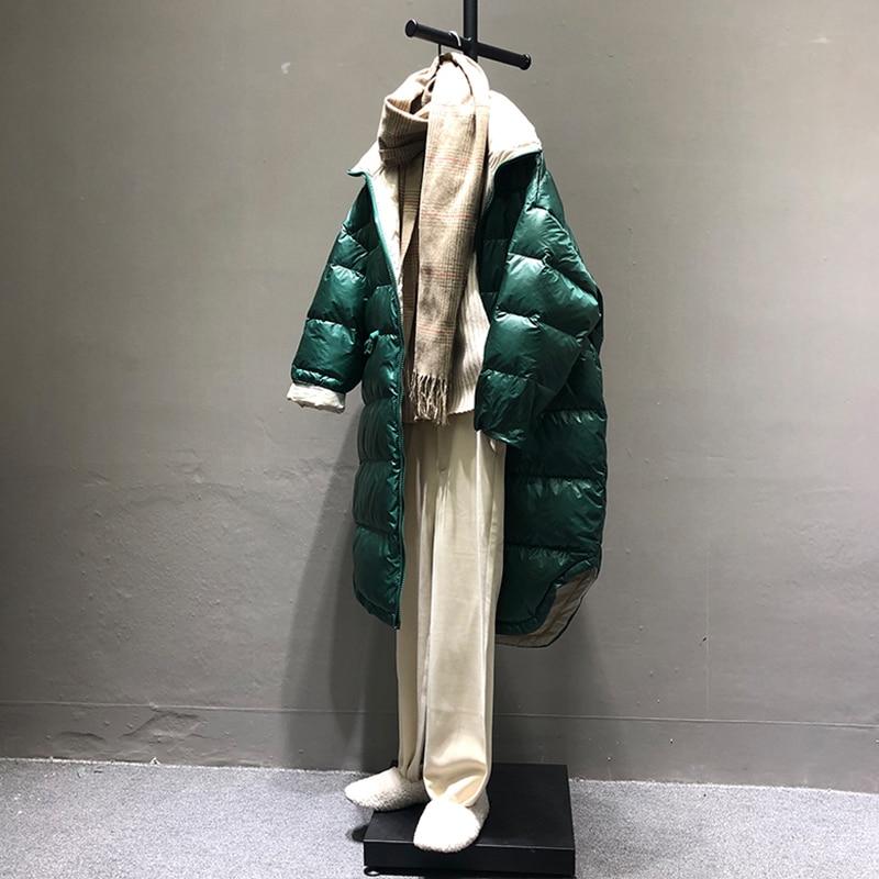 FTLZZ 2019 Neue Ultra Licht Weiße Ente Unten Parka Winter Frauen Unten Lange Jacke Zipper Schwarz Winddicht Unten Outwear-in Daunenmäntel aus Damenbekleidung bei  Gruppe 3