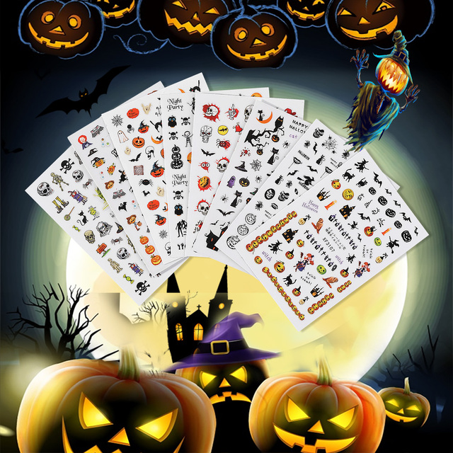 Amazing Halloween Nail Stickers 8 Styles 2