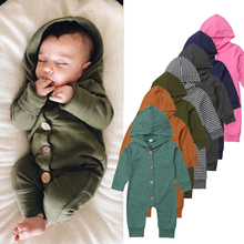 Hooded Romper Outfit Newborn Jumpsuit Kids Clothes Infant Baby-Boy-Girl Winter Cotton