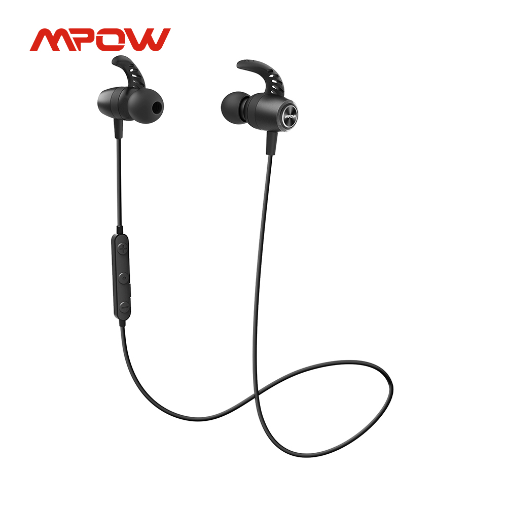 Mpow S16 Bluetooth 5,0 наушники Беспроводной наушники с микрофоном 12 часов проигрывания IPX7 Водонепроницаемый для бега в спортивном стиле рабочая спо...