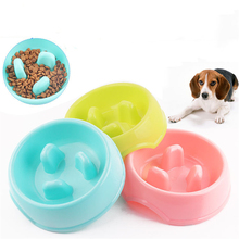 New Dog Cat Bowls Slow Eating Feeding Food Large Size Dogs Container French Bulldog Outdoor Feeder Supplies