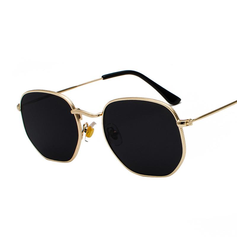 2021 Vintage Metal Men Sunglasses Brand Designer Sun Glasses Women Female Classic Driving Eyewear uv400 Oculos De Sol Masculino