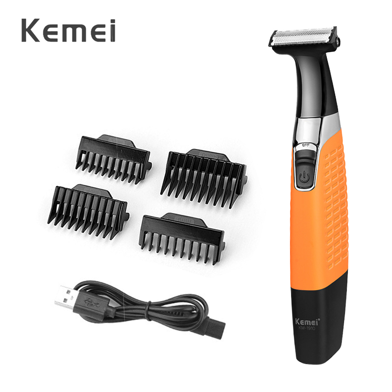 Kemei Electric Shaver USB Rechargeable Shaver Beard Trimmer Men Professional Razor With Single Blade Hair Trimmer Face Care 42D