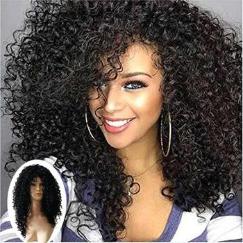 Curly Hair Wig Front Human Hair Wigs African Ringlets Costume Accessories