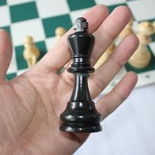 Haute Qualité Jeu D'échecs Roi Haute 97mm/77mm/64mm Médiévale Jeu d'échecs Sans Échiquier 32 Pièces D'échecs/Set Jouer Jeu d'échecs