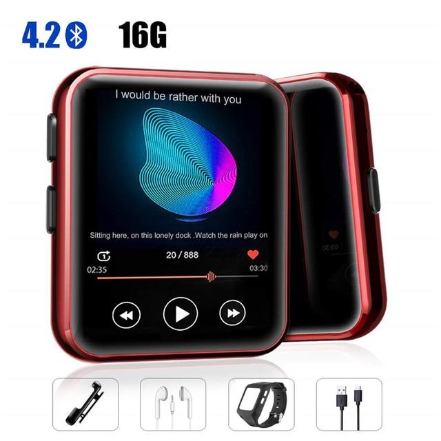 MP3 נגן עם קליפ נייד MP3 נגן עם Bluetooth 4.2 מוסיקה נגן עם FM, מלא מגע מסך מיני MP3 נגן עבור ספורט